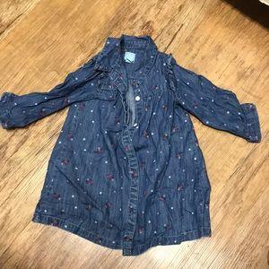 BabyGap denim shirt dress. Girls 2T.